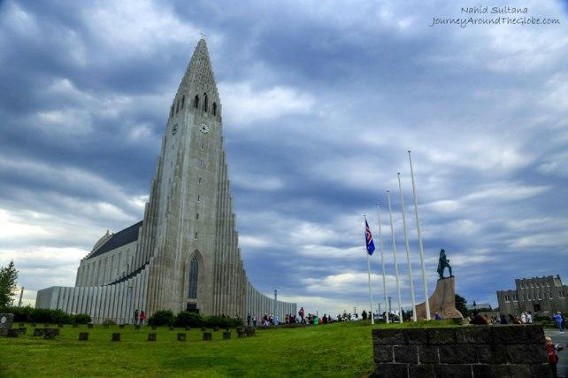 Hallgrimskirkja in Reykjavik, Iceland